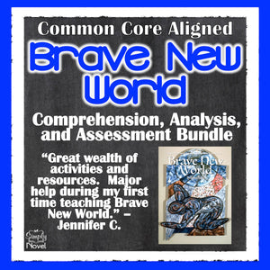 Brave New World Common Core Aligned Novel Study Guide - DISTANCE LEARNING