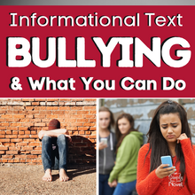 Load image into Gallery viewer, Bullying & What You Can Do: Informational Text Article with Questions