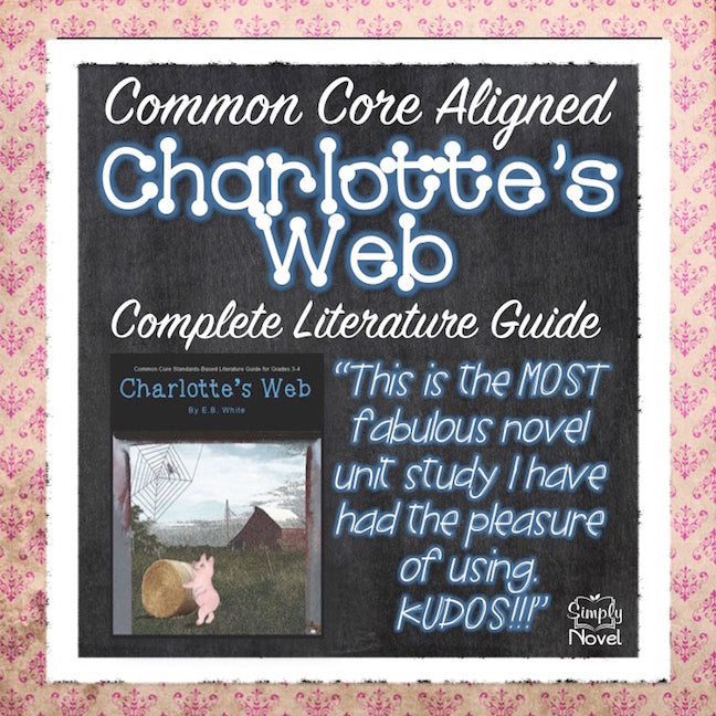 Charlotte's Web Common Core Aligned Novel Study Teaching Guide - DISTANCE LEARNING