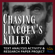 Load image into Gallery viewer, Chasing Lincoln's Killer Research Paper Project, Cause & Effect Text Analysis