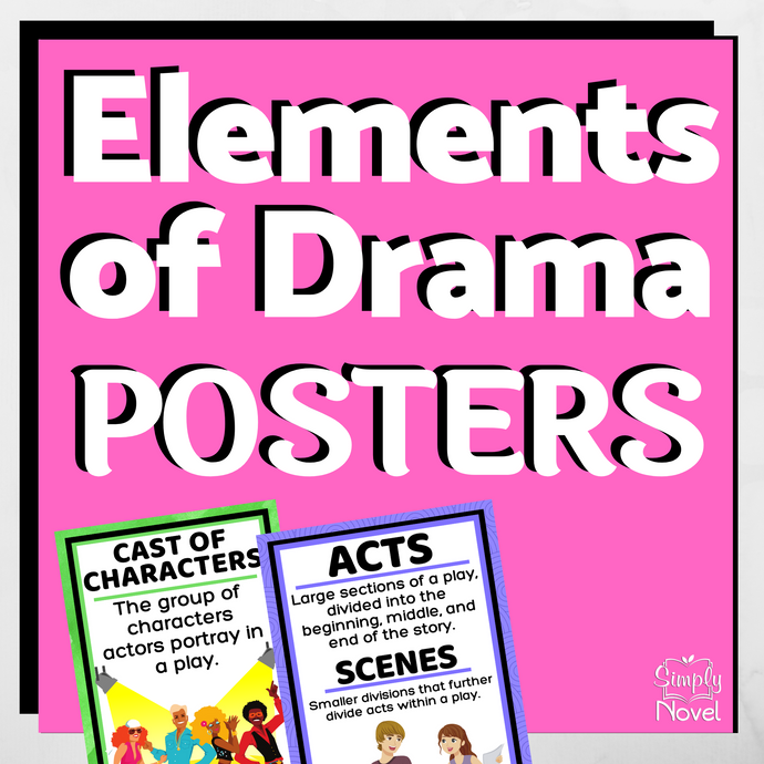 Elements of Drama Classroom Posters