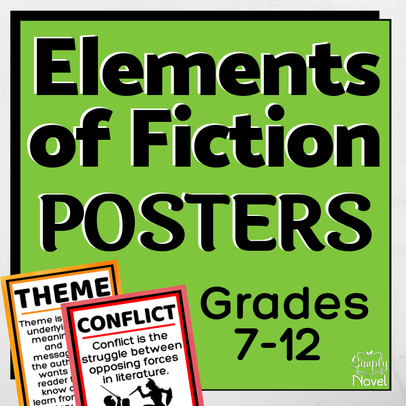 Elements of Fiction Posters for Grades 7-12