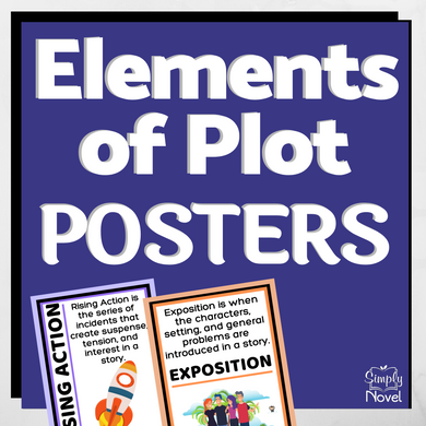 Elements of Plot Classroom Posters - for all grade levels
