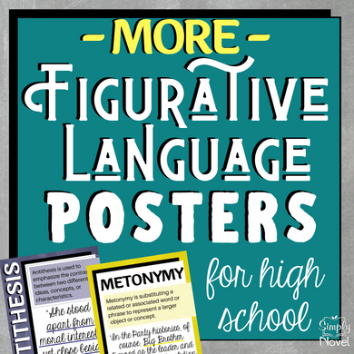 MORE Figurative Language | Figures of Speech Posters for High School