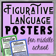 Load image into Gallery viewer, Figurative Language | Figures of Speech Posters for Middle School