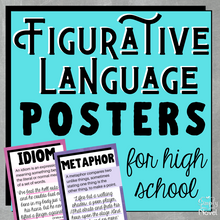 Load image into Gallery viewer, Figurative Language | Figures of Speech ELA Posters for High School - Set #1
