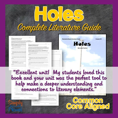 Holes Novel Study - Common Core Aligned Teaching Guide