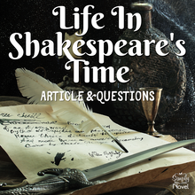 Load image into Gallery viewer, Life in Shakespeare's Time Article & Questions