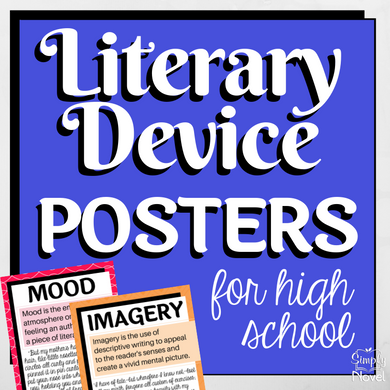 Literary Device | Literary Elements - ELA Posters for High School