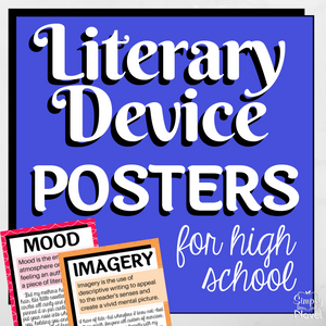Literary Device | Literary Elements Posters for High School