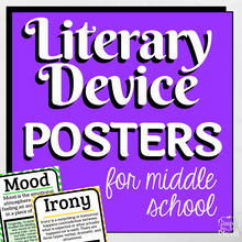 Load image into Gallery viewer, Literary Device | Literary Elements ELA Posters for Middle School
