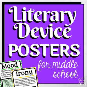 Literary Device | Literary Elements ELA Posters for Middle School
