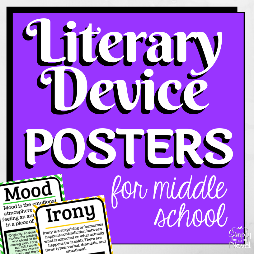 Literary Device | Literary Elements Posters for Middle School