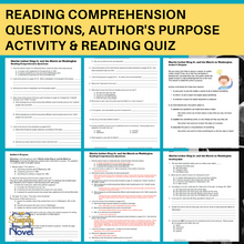 Load image into Gallery viewer, Martin Luther King Jr. March on Washington Reading Questions, Author's Purpose Activity & Final Quiz