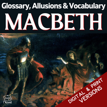 Load image into Gallery viewer, Macbeth Teacher Guide - Glossary, Allusions & Vocabulary Lists