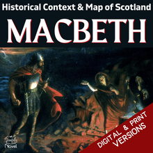 Load image into Gallery viewer, Macbeth Play Study - Historical Context, Map of 11th C Scotland