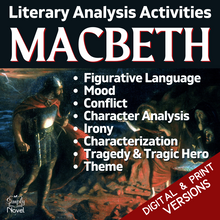 Load image into Gallery viewer, Macbeth Teaching Guide - Literary Analysis Activities by Act