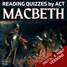 Load image into Gallery viewer, Macbeth Teaching Guide - Act-by-Act Reading Quizzes