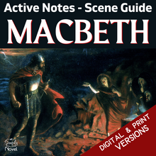 Load image into Gallery viewer, Macbeth Teaching Guide - Note-Taking Act & Scene Guide