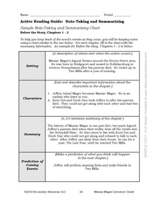 Maniac Magee Common Core Aligned Novel Study Teaching Guide
