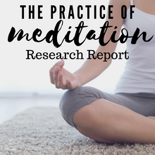 Load image into Gallery viewer, Meditation Practice: Research Paper Guided Questions