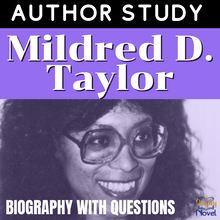 Load image into Gallery viewer, Author Study: Mildred D. Taylor Biography, Questions