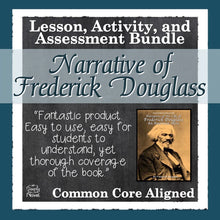 Load image into Gallery viewer, The Narrative of the Life of Frederick Douglass Common Core Aligned Novel Study Teaching Guide
