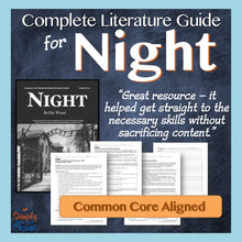 Load image into Gallery viewer, Night Common Core Novel Study Teaching Guide