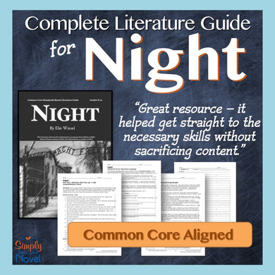 Night Novel Study - Common Core Teaching Guide