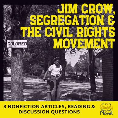 Jim Crow, Civil Rights, Segregation Informational Text Articles and Questions