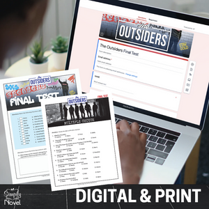 The Outsiders FINAL TESTS - 2 Versions | GOOGLE - DISTANCE LEARNING