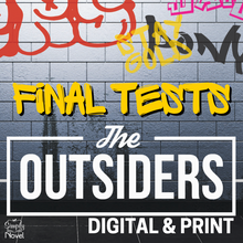 Load image into Gallery viewer, The Outsiders FINAL TESTS - 2 Versions | GOOGLE - DISTANCE LEARNING