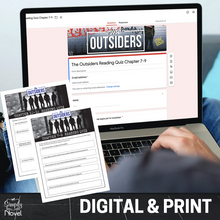 Load image into Gallery viewer, The Outsiders Chapter Reading Quizzes | GOOGLE - DISTANCE LEARNING