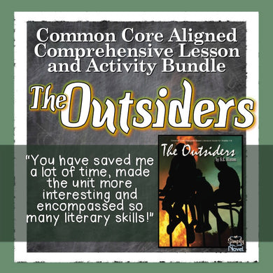 The Outsiders Common Core Aligned Novel Study Guide - DISTANCE LEARNING