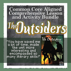 The Outsiders Common Core Aligned Novel Study Guide