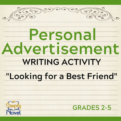 Personal Advertisement Writing Activity - Persuasive Writing