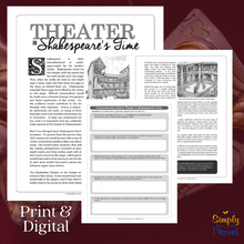 Load image into Gallery viewer, Theater in Shakespeare's Time: Informational Article & Questions
