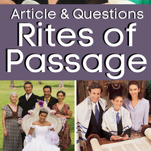 Load image into Gallery viewer, Rites of Passage Informational Article & Questions