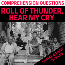 Load image into Gallery viewer, Roll of Thunder, Hear My Cry Novel Study - Comprehension Questions