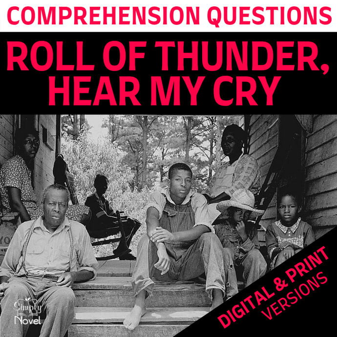 Roll of Thunder, Hear My Cry Novel Study - Comprehension Questions