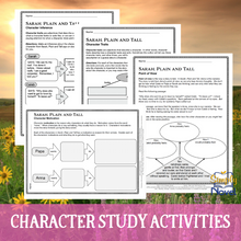 Load image into Gallery viewer, Sarah, Plain and Tall Character Study Activities - Motivation, Inference, Traits