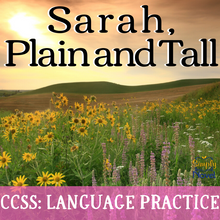 Load image into Gallery viewer, Sarah, Plain and Tall Novel Study - Grammar, Parts of Speech Practice, Worksheets