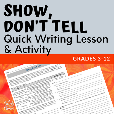 Show Don't Tell Mini-Lesson Writing Activity