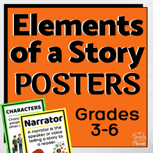 Load image into Gallery viewer, Elements of a Story Posters for Grades 3-6