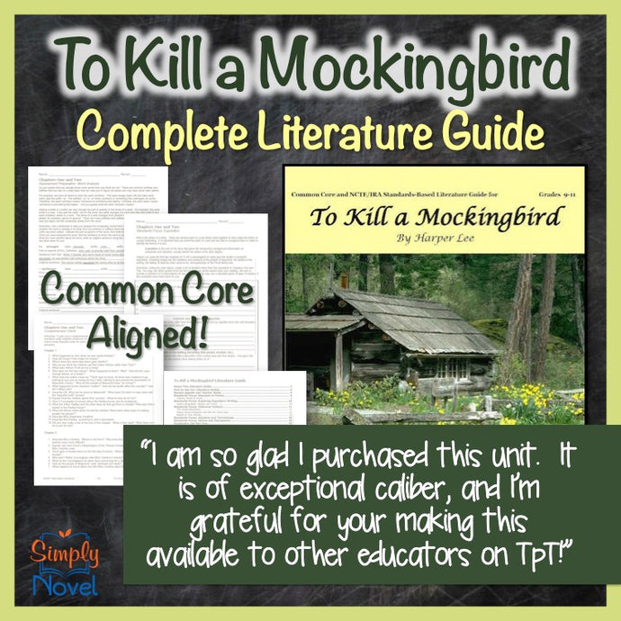 To Kill a Mockingbird Novel Study - Common Core Aligned Teaching Guide