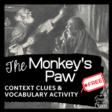 Load image into Gallery viewer, The Monkey's Paw Short Story - Context Clues & Dictionary Practice Questions