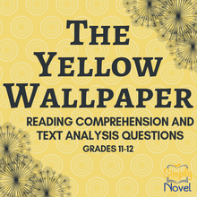 Load image into Gallery viewer, The Yellow Wallpaper Story Questions, Quiz Questions