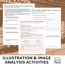 Load image into Gallery viewer, We Are The Ship: The Story of Negro League Baseball  Book Study - Illustration, Image & Graphics Analysis Activities