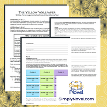 Load image into Gallery viewer, The Yellow Wallpaper Argumentative Essay Writing Activity