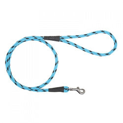 Large Dog lead - Black Ice Turquoise